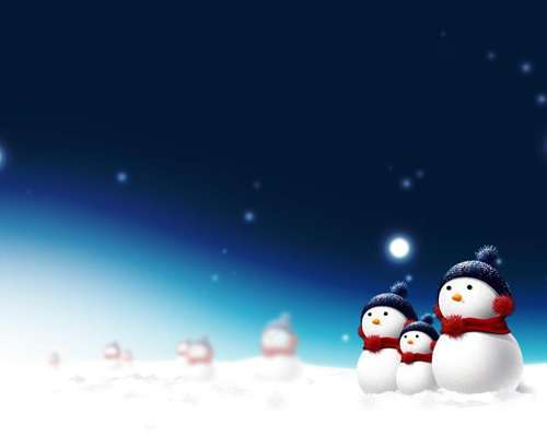 Christman_Snowman_wallpaper